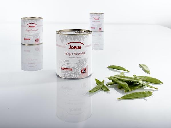 PET tin labeled adhesive