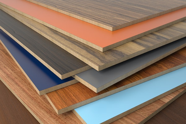 Laminated particleboard in the furniture industry