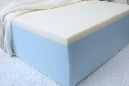Foam laminated foam mattress