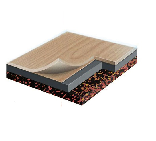 Doppelböden bestehen in den meisten Fällen aus Holz und werden mit einer Funktionsschicht flächenkaschiert