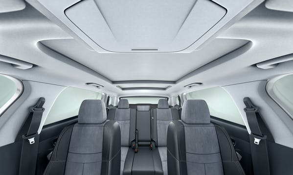 Roof lining in the car with Mobiltech