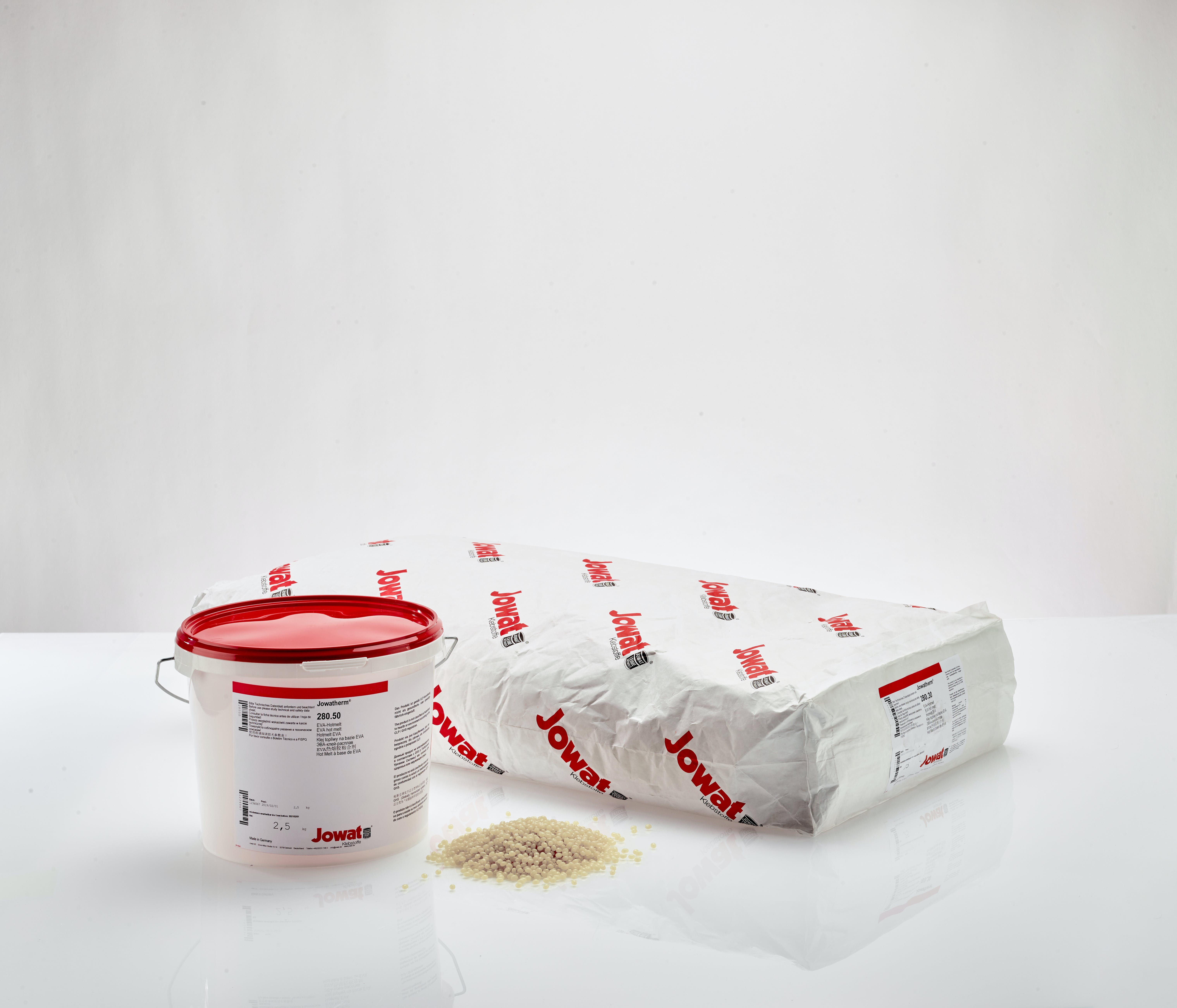 Produkte biobasierte Klebstoffreihe Jowatherm® GROW