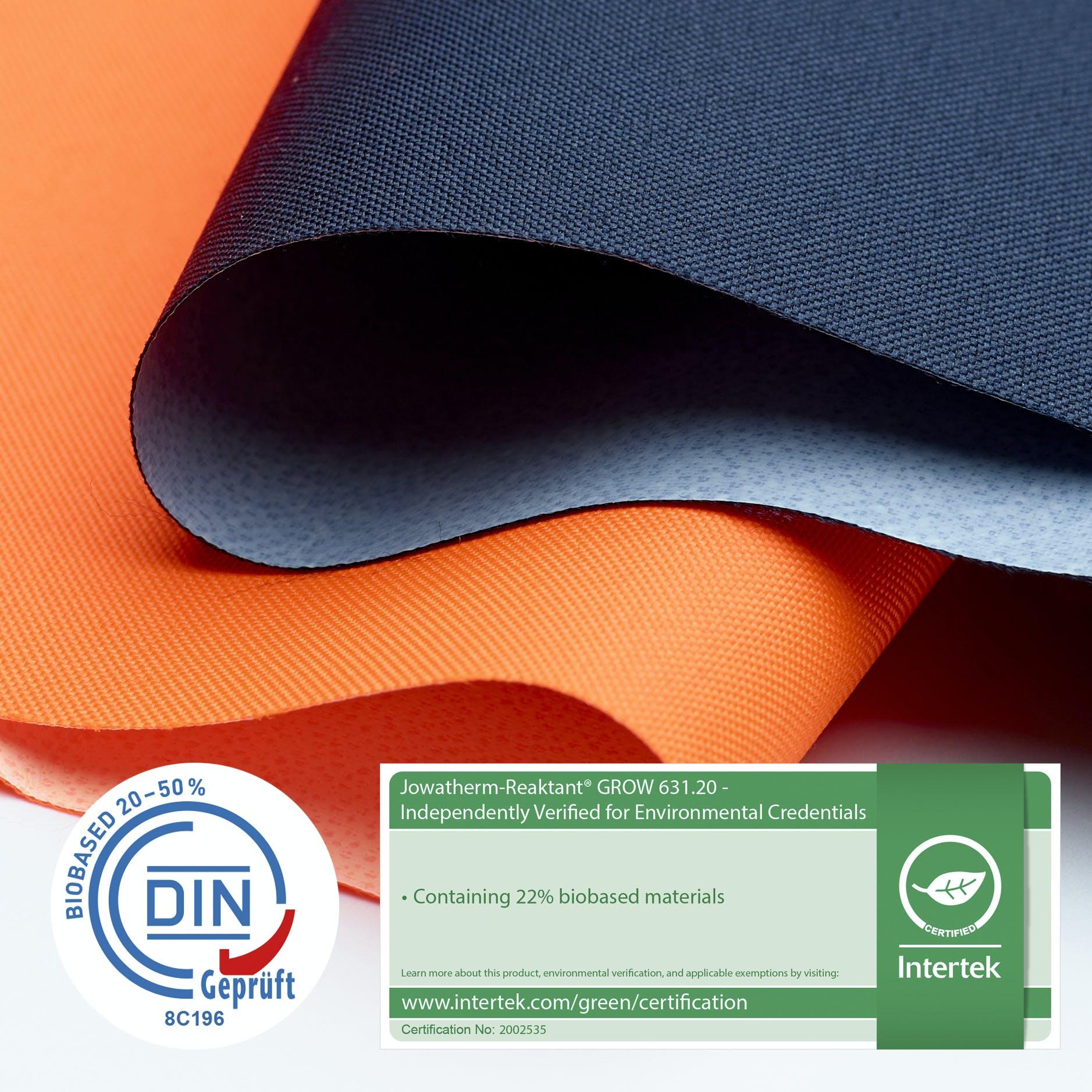Jowatherm-Reaktant GROW biobased adhesive textile