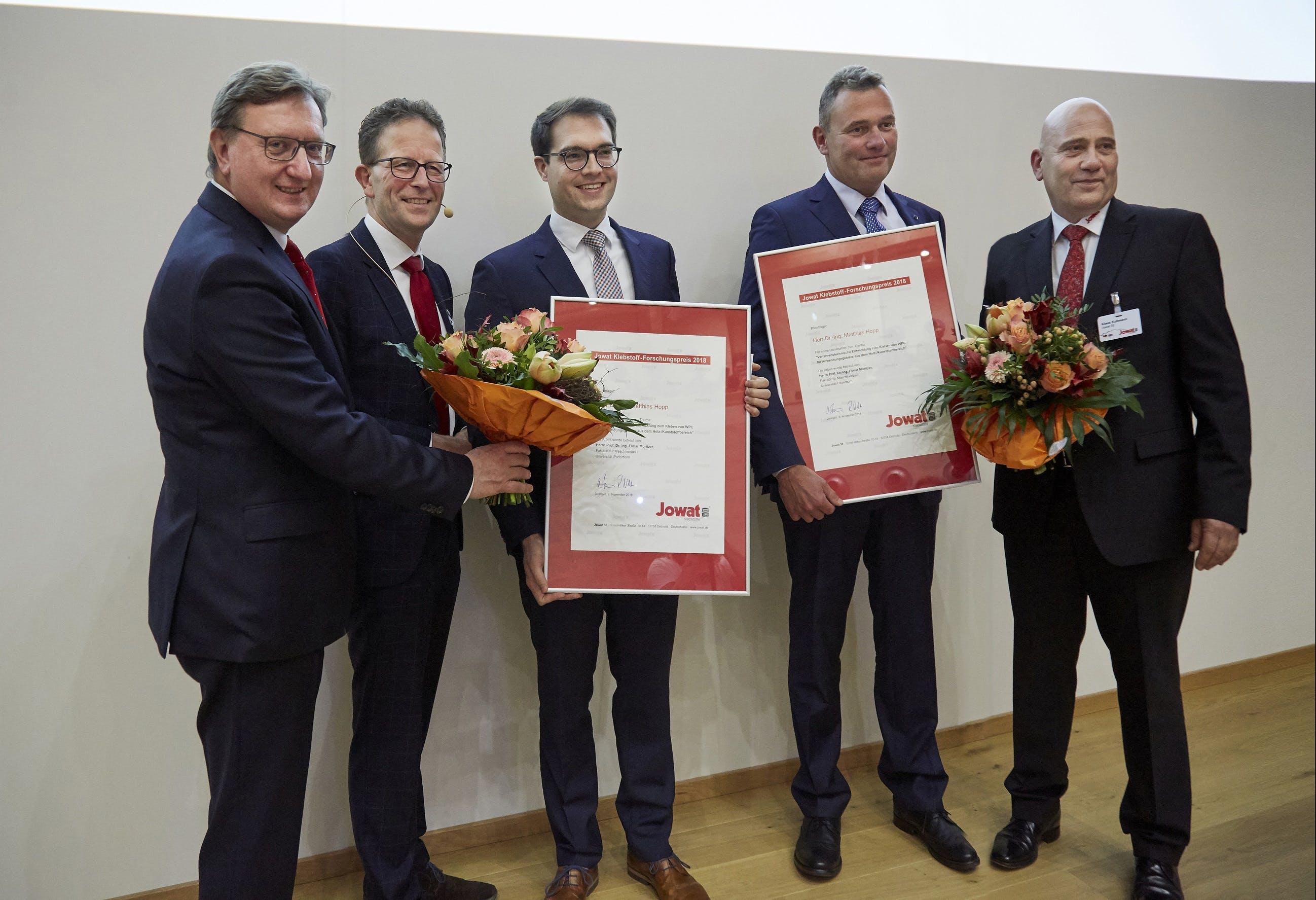 Verleihung Forschungspreis Hopp Vorstäden Jowat SE