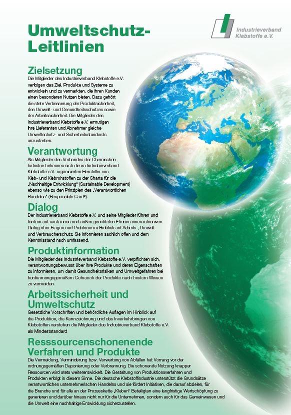 Umweltschutz-Leitlinien | Industrieverband Klebstoffe e.V.