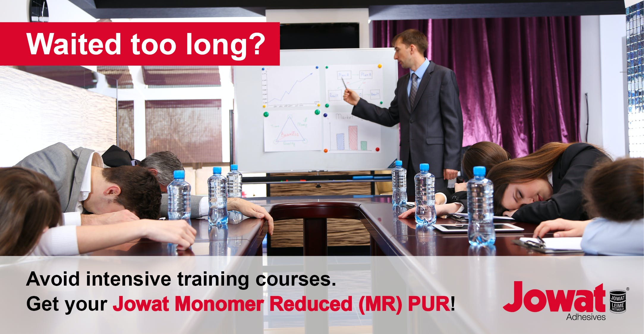 Avoid intensive training courses - get your Jowat Monomer Reduced MR PUR